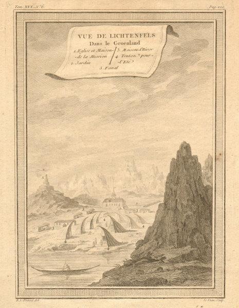 Associate Product 'Vue de Lichtenfels dans le Groenland'. View of Akunnat, Greenland 1770 print