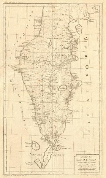 Associate Product 'Carte du Kamtchatka'. Kamchatka, Russia. BELLIN / LAURENT 1770 old map