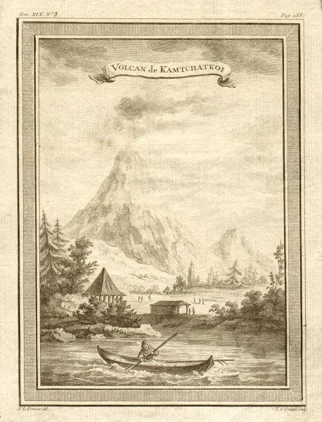 Associate Product 'Volcan de Kamtchatkoi'. Kluchevskaya group. Shiveluch. Kamchatka volcanoes 1770