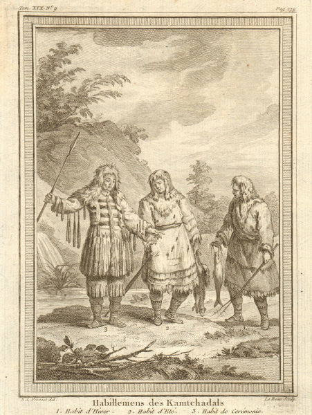 Associate Product 'Habillements des Kamtchatdals'. Kamchadal clothing dress. Kamchatka Russia 1770