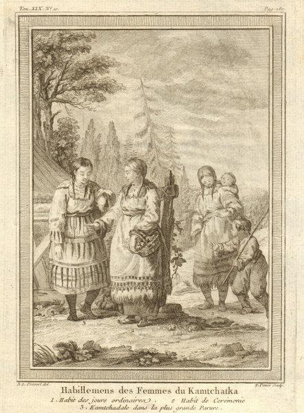 Associate Product 'Habillements des Femmes du Kamtchatka'. Kamtchadal women dress. Kamchatka 1770