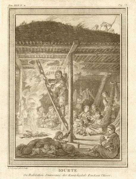 Associate Product 'Iourte ou Habitation Souterraine'. Yurt or underground house, Kamchatka 1770
