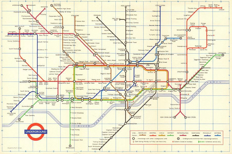 Associate Product LONDON UNDERGROUND tube map plan. Victoria Line open to Victoria. GARBUTT 1969