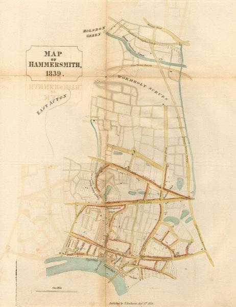 Associate Product HAMMERSMITH PARISH. Shepherds Bush. Chiswick. Brook Green. FAULKNER 1839 map