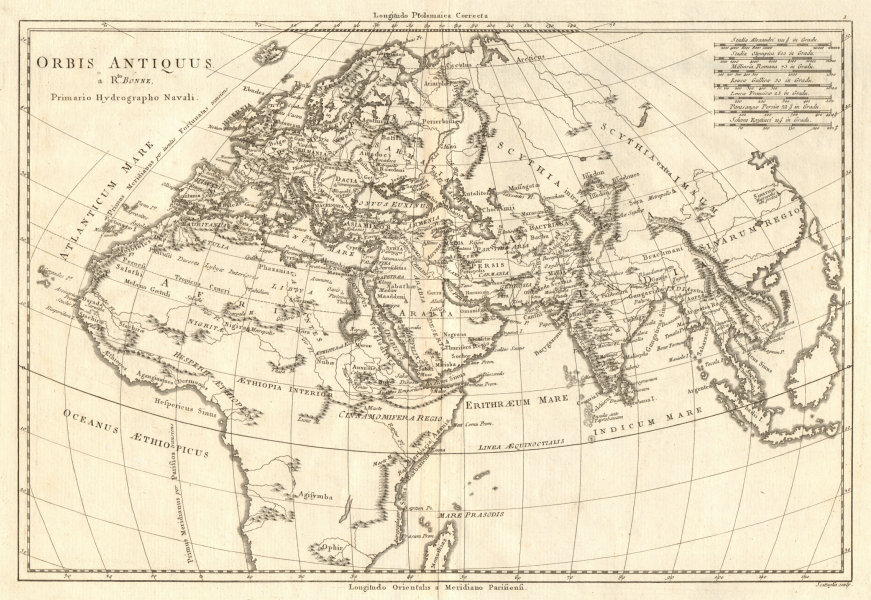 Associate Product Orbis Antiquus. The Ancient World. Europe Africa Asia. BONNE 1789 old map