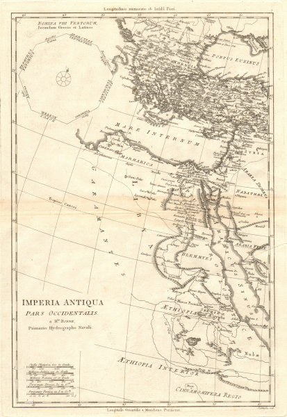 Associate Product Imperia Antiqua pars Occidentalis. Empire of Alexander the Great. BONNE 1789 map