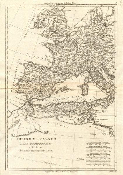 Associate Product Imperium Romanum pars Occidentalis. Roman Empire. Western Europe. BONNE 1789 map