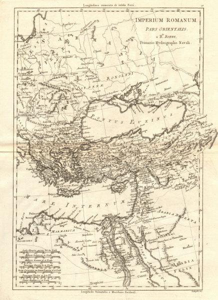Associate Product Imperium Romanum, pars Orientalis. Roman Empire, eastern part. BONNE 1789 map