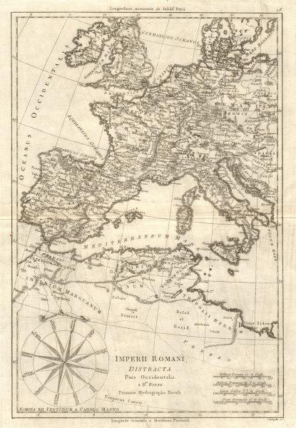 Associate Product Imperii Romani Distracta pars Occidentalis. Roman Empire western. BONNE 1789 map