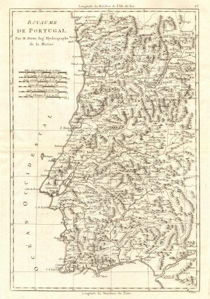 Cartina Del Portogallo Da Stampare.To De Portugal Regno Del Portogallo Bonne 1789 Vecchio Antico Mappa Grafico Ebay