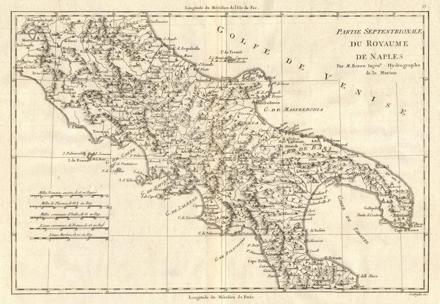 Associate Product Partie Septentrionale du Royaume de Naples. Southern Italy. BONNE 1789 old map