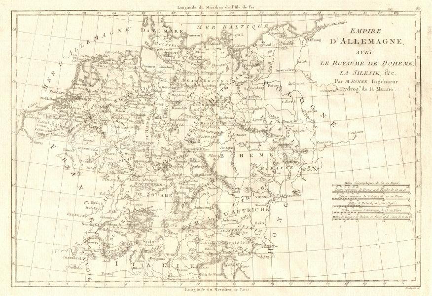 Associate Product Empire d'Allemagne avec le Royaume de Boheme, la Silesie. Germany BONNE 1789 map