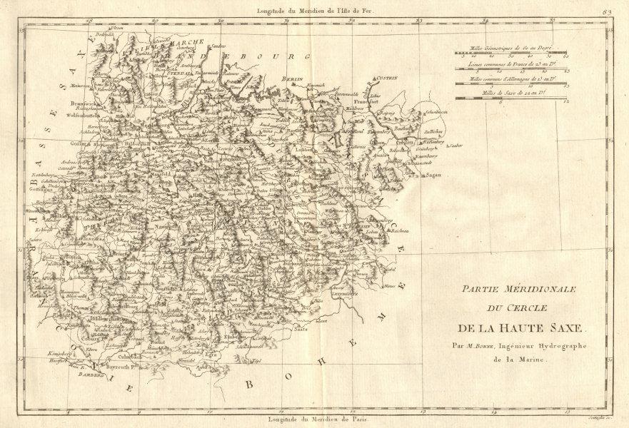 Associate Product Partie Méridionale du Cercle de la Haute Saxe. East Saxony. BONNE 1789 old map
