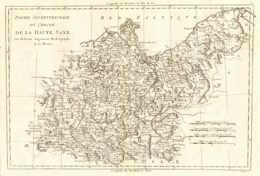 Associate Product Partie Septentrionale du Cercle de la Haute Saxe. Pomerania. BONNE 1789 map