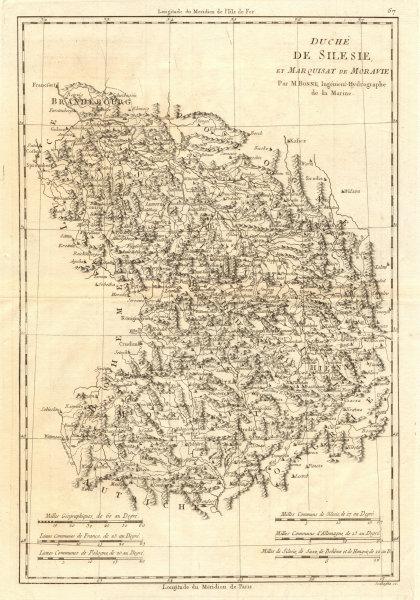 Associate Product Duché de Silesie et Marquisat de Moravie. Silesia Moravia Poland. BONNE 1789 map