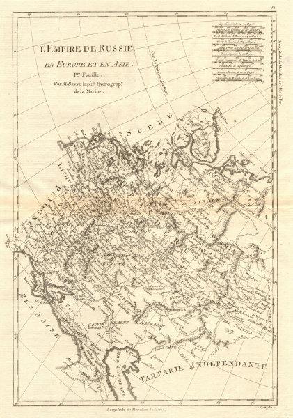 Associate Product L'Empire de Russie en Europe et en Asie. 1st sheet. Russia West. BONNE 1790 map
