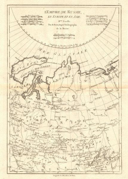 Associate Product L'Empire de Russie en Europe et en Asie. 2nd sheet. Russia Centre BONNE 1790 map
