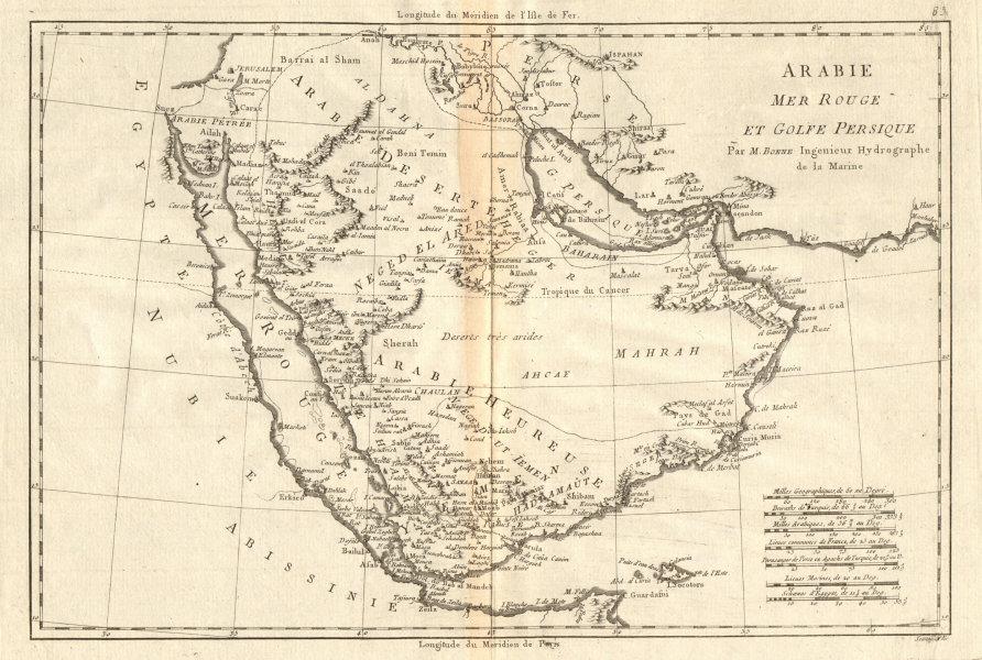 Associate Product Arabie, Mer Rouge et Golfe Persique. Arabia Red Sea Persian Gulf. BONNE 1790 map