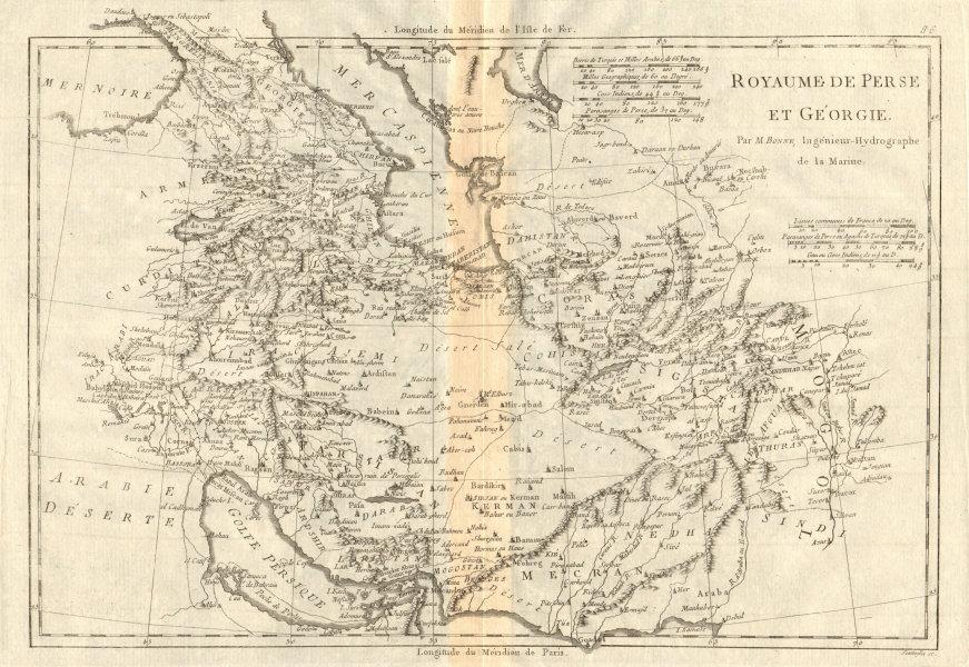 Associate Product Royaume de Perse et de Géorgie. Kingdoms of Persia & Georgia. BONNE 1790 map