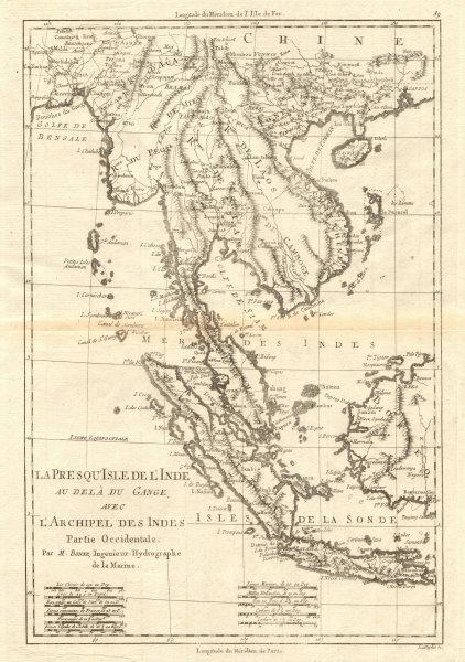 Associate Product La Presqu'Isle de l'Inde. Indochina Sumatra Java Borneo. BONNE 1790 old map