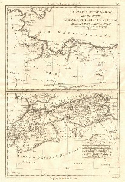 Associate Product États du Roi de Maroc… d'Alger, Tunis & Tripoli. North Africa. BONNE 1790 map