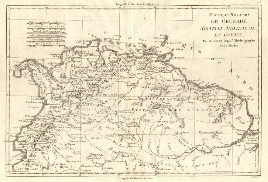 Associate Product Nouveau Royaume de Grenade, Nouvelle Andalousie et Guyane. BONNE 1790 old map