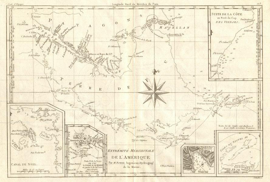 Associate Product Extremité Meridionale de l'Amérique Tierra del Fuego Magellan Str BONNE 1790 map