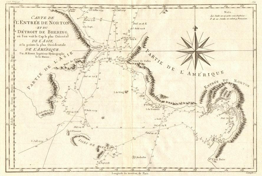 Associate Product Entrée de Norton & Détroit de Bhering. Bering Strait Norton Sound BONNE 1790 map