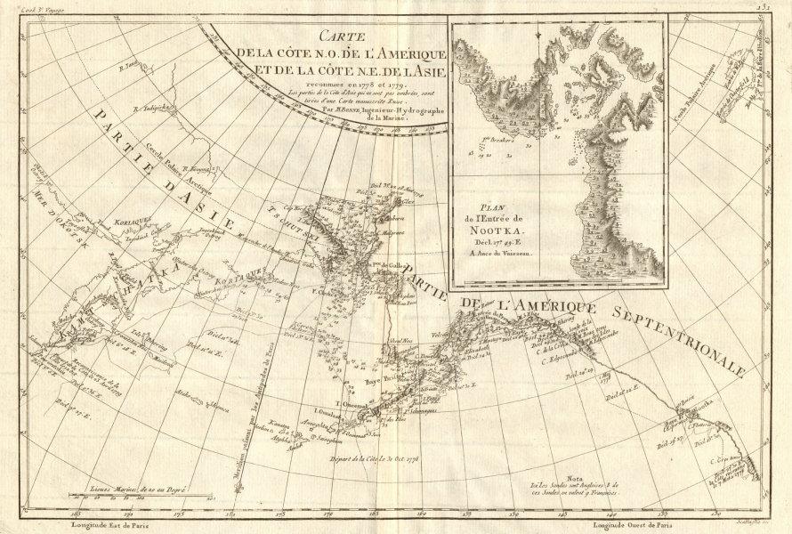 Associate Product Côte NO de l'Amérique & côte NE de l'Asie. Alaska & Kamchatka. BONNE 1790 map