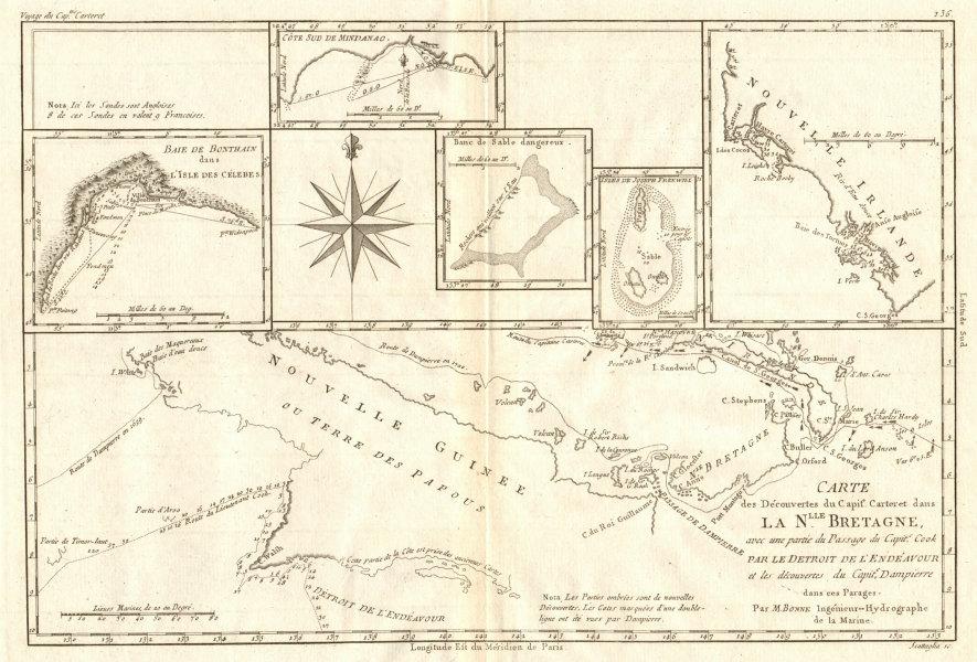 Associate Product Nouvelle Bretagne. Carteret's discoveries New Britain New Guinea. BONNE 1790 map