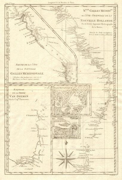 Associate Product Nouvelle Galles Méridionale. Australia East Coast. NSW QLD TAS. BONNE 1790 map