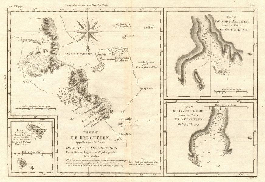 Associate Product Terre de Kerguelen… Isle de la Désolation. Kerguelen Island. BONNE 1790 map
