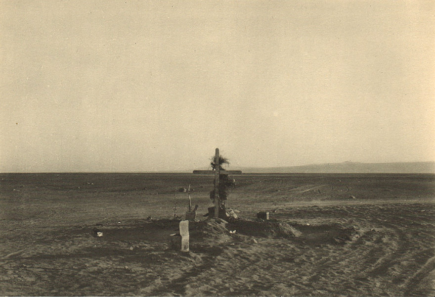 Associate Product CHILE. Pampa del Tamarugal. Cruz en el desierto. Cross in the desert 1932