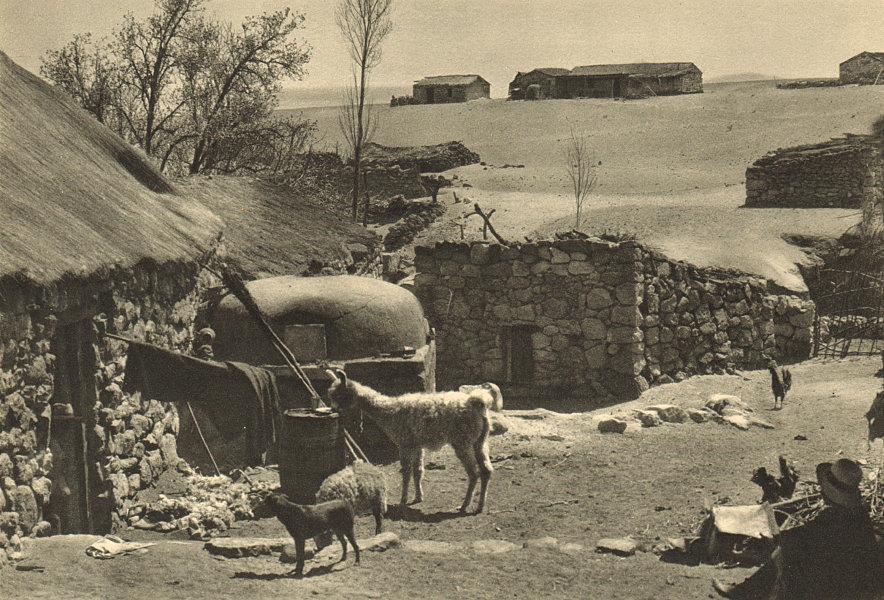 Associate Product CHILE. Toconao. Aspecto tipico de un patio. Typical patio 1932 old print