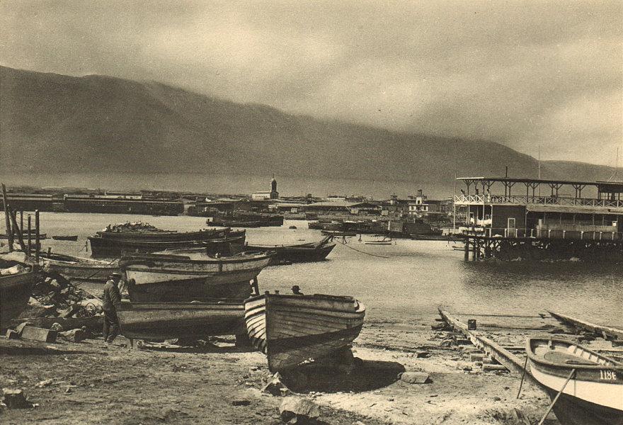 CHILE. Iquique. Importante puerto salitrero. Nitrate port 1932 old print