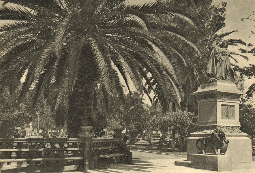 Associate Product CHILE. Antofagasta. Rincon de la plaza. Corner of the square 1932 old print
