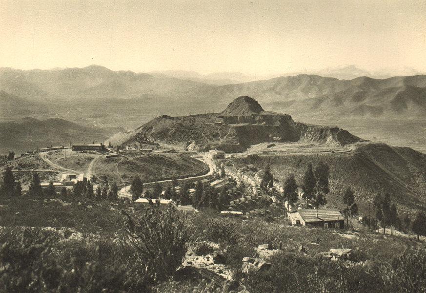 Associate Product CHILE. Mina Tofo. Vista del campamento y de la mina. Camp & mine 1932 print