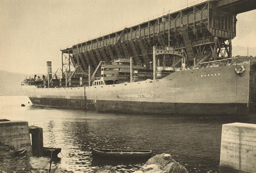 Associate Product CHILE. Caleta ''Cruz Grande''. Puerto de la mina ''Tofo''. Port of the mine 1932