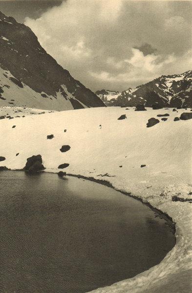 Associate Product CHILE. Laguna del Inca. Inca lagoon 1932 old vintage print picture