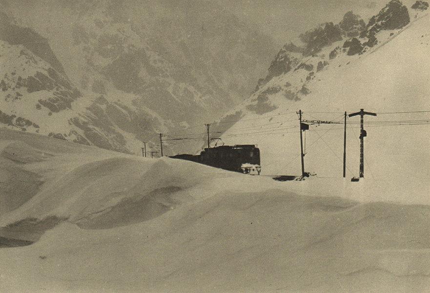 Associate Product CHILE. Estacion ''caracoles'' del F.C.Transandino en invierno. Railways 1932