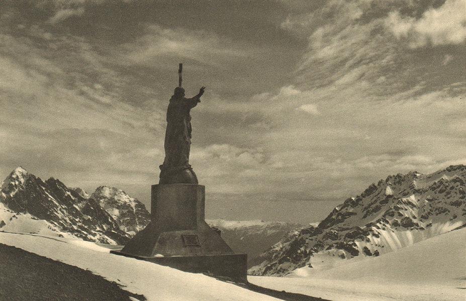 Associate Product CHILE. Cristo de los Andes. Monumento. Frontera entre Chile y Argentina 1932