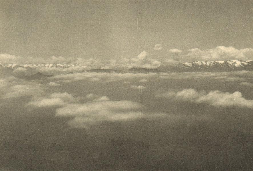 Associate Product CHILE. Cordillera de los Andes. Vista desde un avion 1932 old vintage print