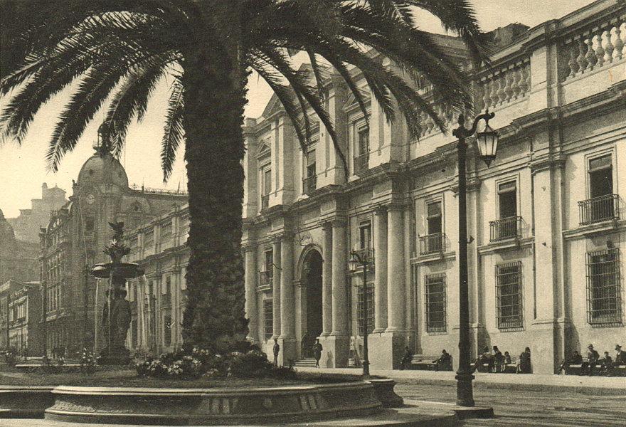 Associate Product CHILE. Santiago. La Moneda palace 1932 old vintage print picture