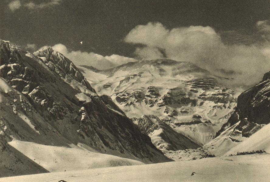Associate Product CHILE. Volcan San Jose visto desde lo Valdes. San José Volcano from Valdés 1932
