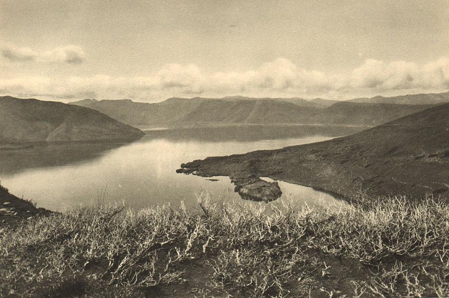 Associate Product CHILE. Laguna del Laja 1932 old vintage print picture