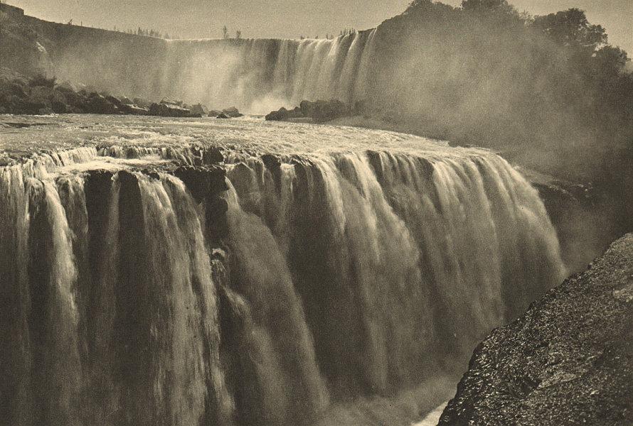 Associate Product CHILE. Salto del Laja. Waterfalls 1932 old vintage print picture