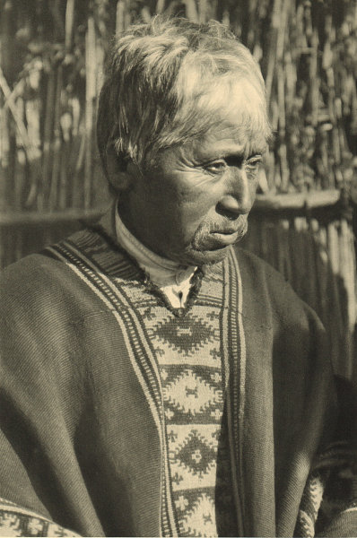 Associate Product CHILE. Lumaco. Cacique Araucano. Mapuche 1932 old vintage print picture