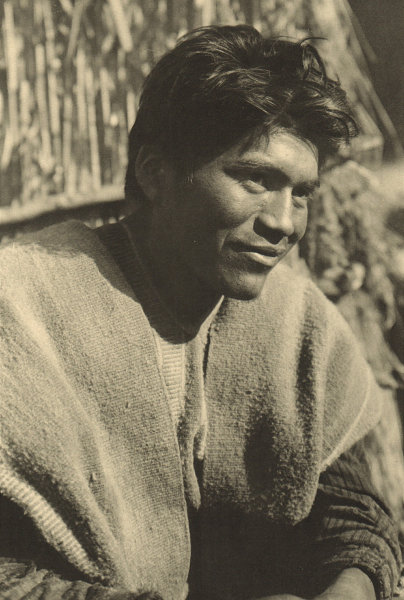 Associate Product CHILE. Lumaco. Joven / Young Araucano. Mapuche 1932 old vintage print picture