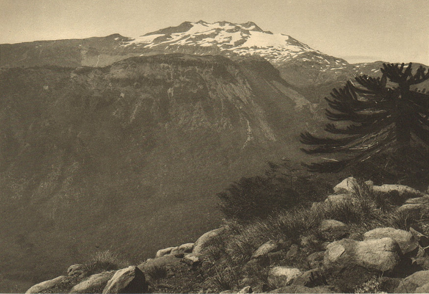 Associate Product CHILE. Volcan Tolhuaca Volcano 1932 old vintage print picture