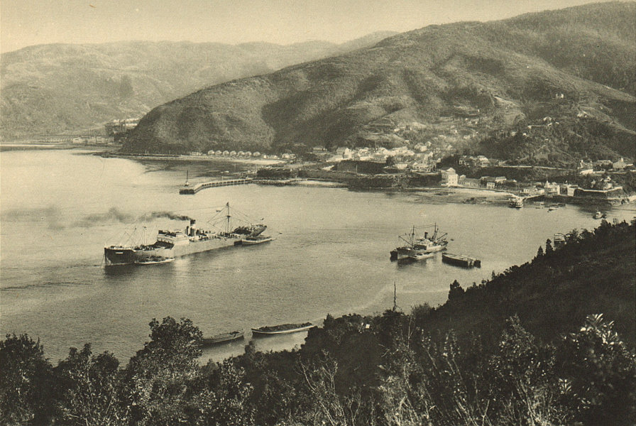 Associate Product CHILE. Corral. View of the port 1932 old vintage print picture